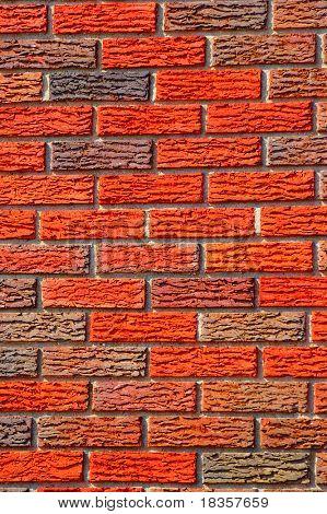 A beautiful background of freshly laid bricks