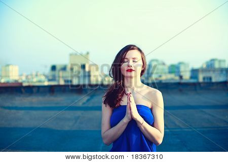 Beautiful Girl Meditating