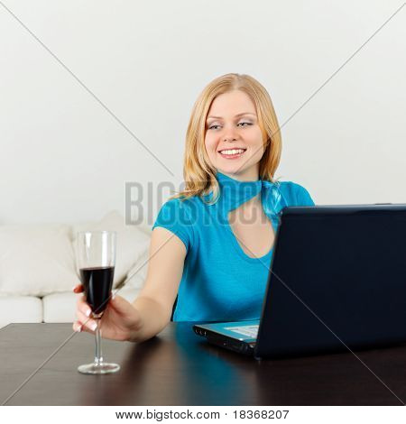Business Woman Celebrating Her Success