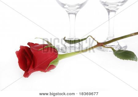 rose and win glasses