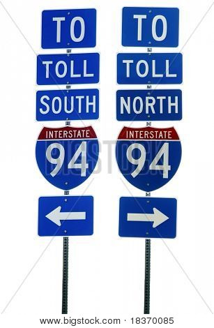 Interstate 94 Road Sign Isolated