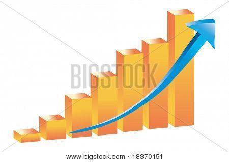 3D Barchart Graph Vector