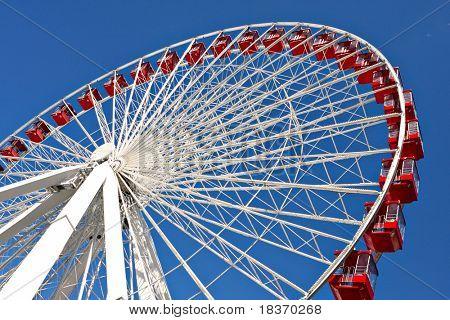 chicago navy pier giant ferris wheel close up