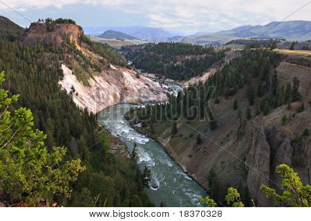 Grand Canyon of Yellowstone National Park under Summer Sunlight
