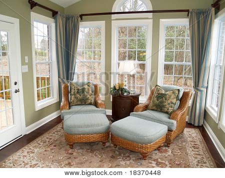 Bright Sunroom