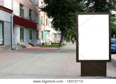 leere Plakat in der Stadt