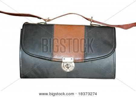 vintage briefcase isolated