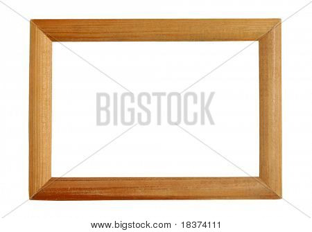 vintage wooden frame isolated