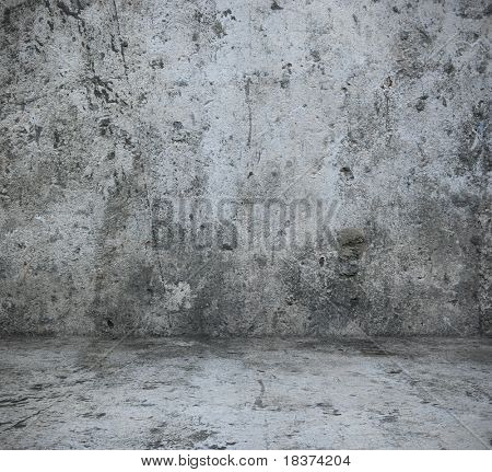 grey concrete interior