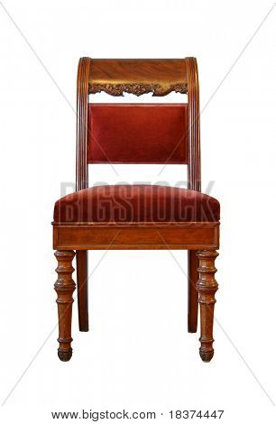 vintage chair isolated on white