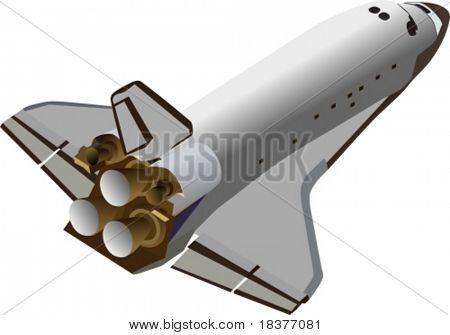 Vector Space Shuttle Flying Up
