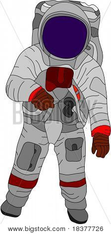 vector - color spaceman isolated on white background