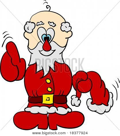 vector - Santa without hat isolated on background