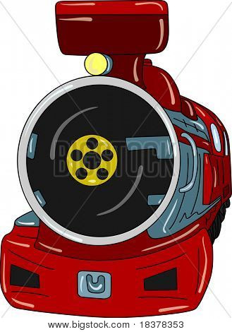 vector - old steam Locomotive isolated on background