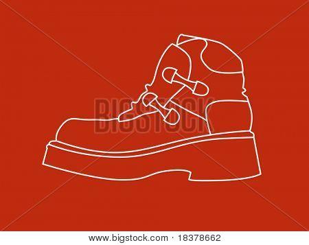 Line illustration of shoe