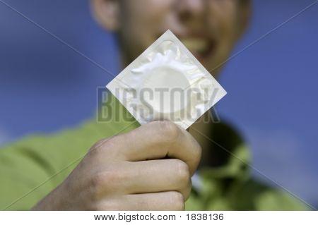 Teen With Condom
