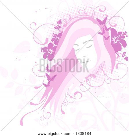 Young Woman Portrait, Beauty Concept