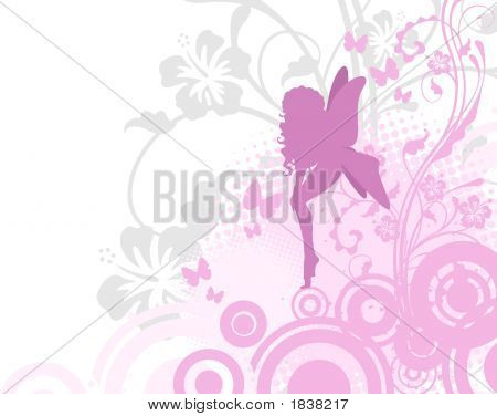 Fairy In Pink Garden