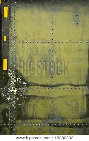 placa de metal militar