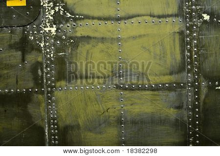 military metal plate