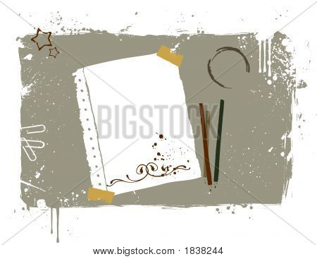 Working Desktop, Illustration