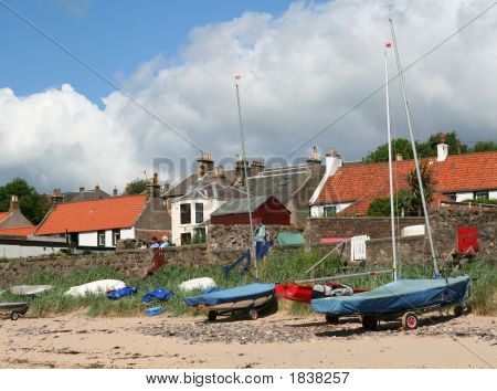 Boats At Largo, Fife