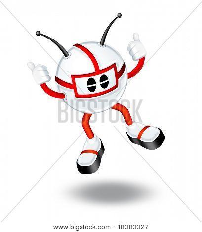 3D Mann springen