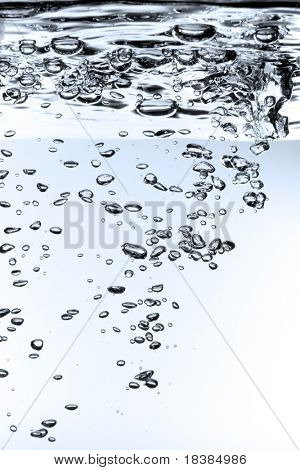 high definition waterdrops isolated on white/blue background