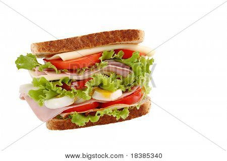 healthy sandwich with clipping path