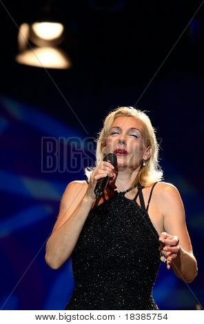 TAVIRA, PORTUGAL - JULY 26: Ute Lemper performs onstage at Igreja do Carmo July 26, 2008 in Tavira, Portugal.