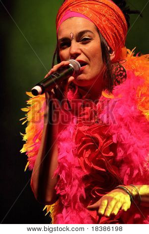 LOULE, PORTUGAL - JUNE 25: Ojos de Brujo performs onstage at Festival Med June 25, 2009 in Loule, Portugal.