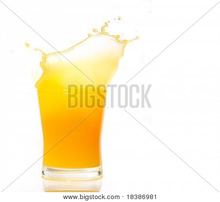 orange juice splash isolated on white easy copy paste for a design