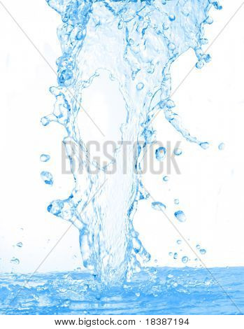 blurry water isolated on white