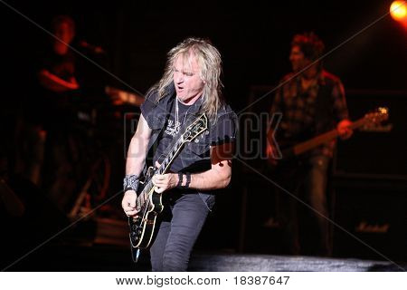 FARO, PORTUGAL - JULY 15: Gotthard swiss band performs onstage at  Internacional motorcycle show July 15 2010 in Faro, Portugal.