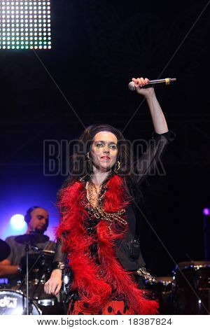 FARO, PORTUGAL - JULY 17: Ojos de Brujo performs onstage at Internacional motorcycle show July 17, 2010 in Faro, Portugal.