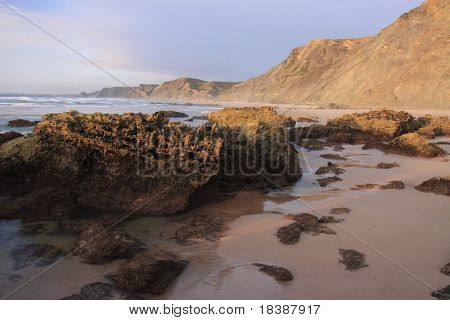 Southwest Alentejo and Vicentine Coast Natural Park - castelejo beach, near sagres, Portugal