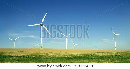 Wind turbines. Energy.