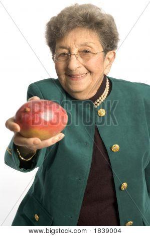 Senior Woman With Mango