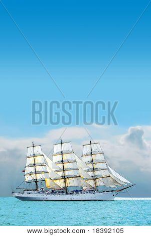 nostalgische Segelboot der Karibik an einem sonnigen Tag
