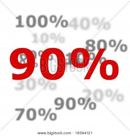 90 Por ciento