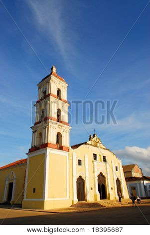 "Colonial grand church ""Iglesia Mayor"" of San Juan Bautista in Remedios, Cuba"