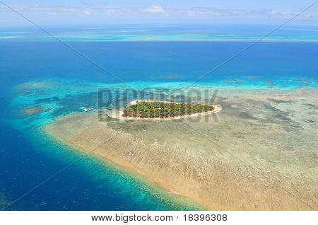 Green Island Great Barrier Reef, Cairns Australia seen from above