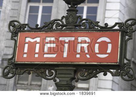 Beautiful Metro Sign Paris