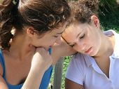 picture of mother daughter  - sad mother and daughter - JPG