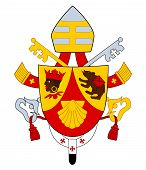 stock photo of benediction  - Pope Benedict XVI coat or arms - JPG
