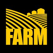 Farm Logo. Agriculture Sign. Arable Land And Farm Lands poster