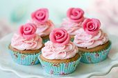 stock photo of tea party  - Vintage cupcakes - JPG