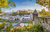 Historic City Of Salzburg In Fall, Austria poster