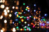 image of christmas lights  - Colorful bokeh of christmas lights - JPG