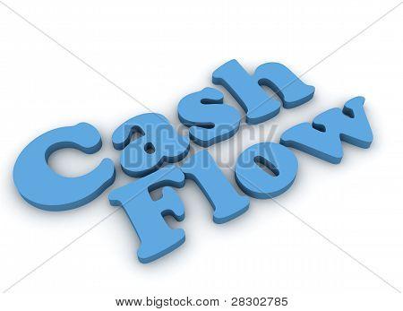 Cash flow 3d render
